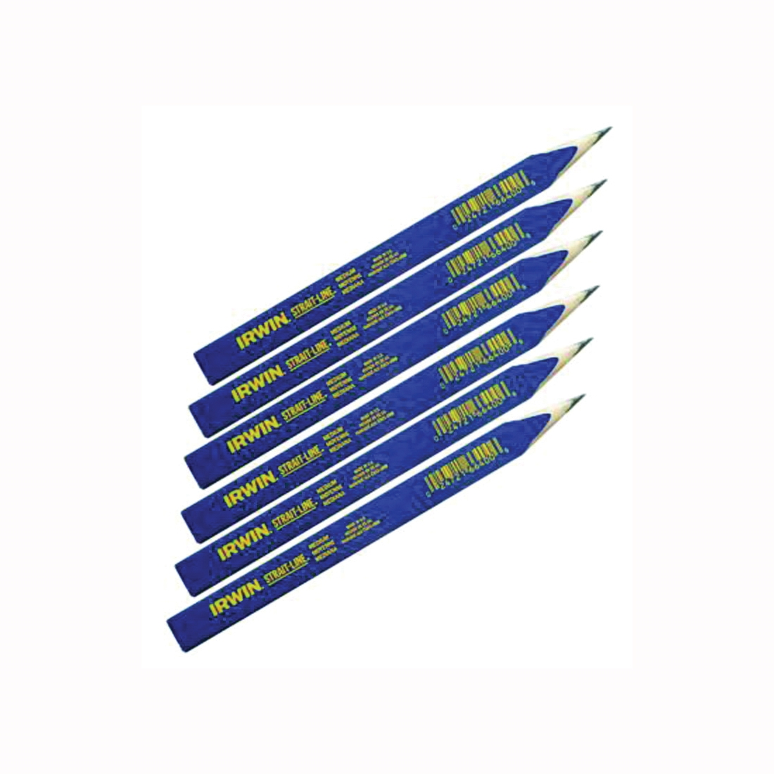 Picture of IRWIN 66301 Carpenter Pencil, Blue, 7 in L, Wood Barrel
