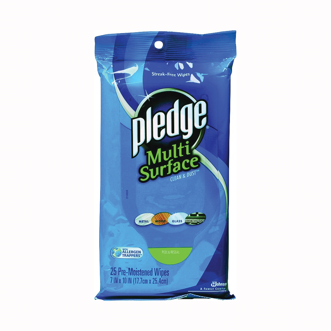 Picture of Pledge 21462 Cleaning Wipes, 10 in L, 7 in W, 25