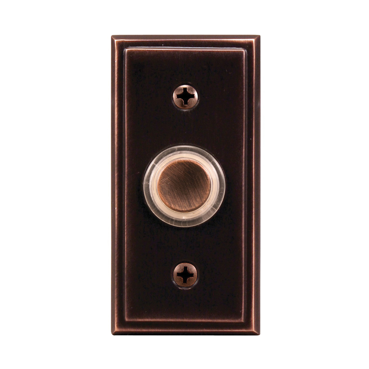 Picture of Heath Zenith SL-716-00 Pushbutton, Wired, Metal, Oil-Rubbed Bronze, Lighted