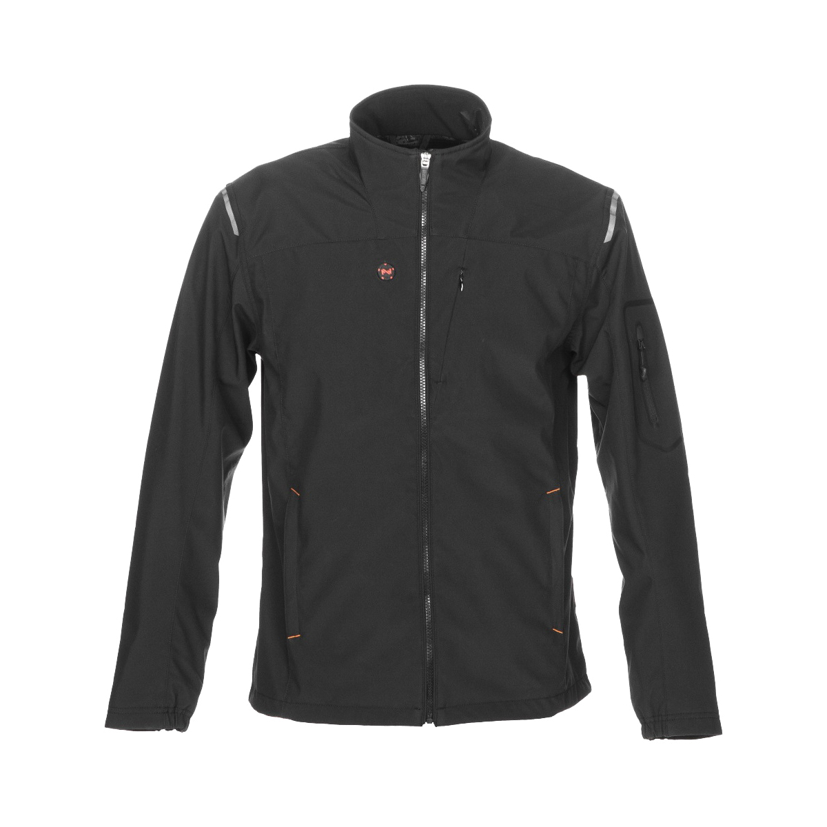 Picture of Mobile Warming MWJ16M07-LG-BLK Heated Jacket, L, Men's, Fits to Chest Size: 42 in, Fabric, Black
