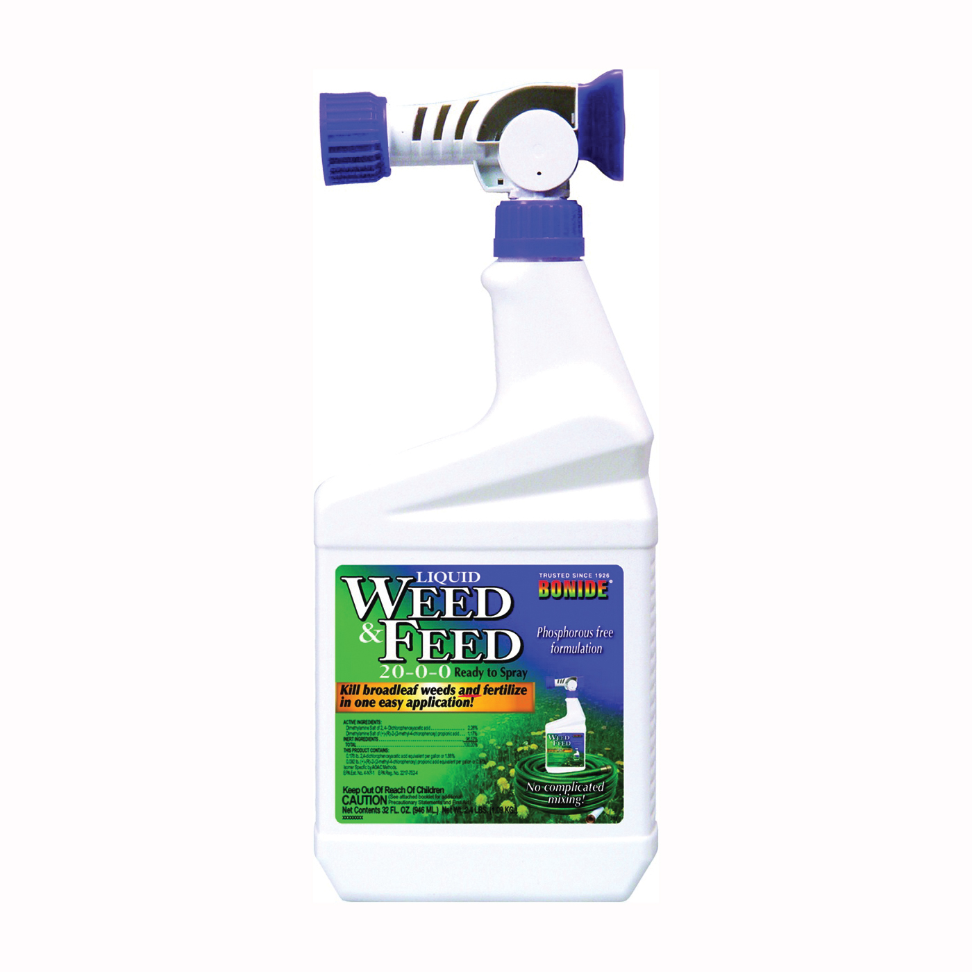 Picture of Bonide 301 Weed and Feed Control, Liquid, Characteristic, Amber, 1 qt Package