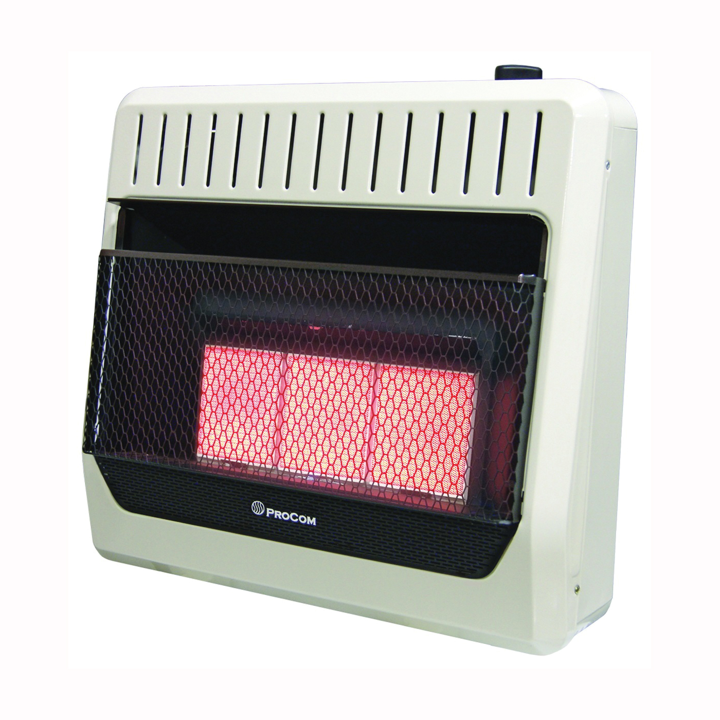 Picture of PROCOM HEATING MG3TIR Ventless Dual Fuel Heater, 25-1/2 in W, 24.1 in H, 28,000 to 30,000 Btu Heating