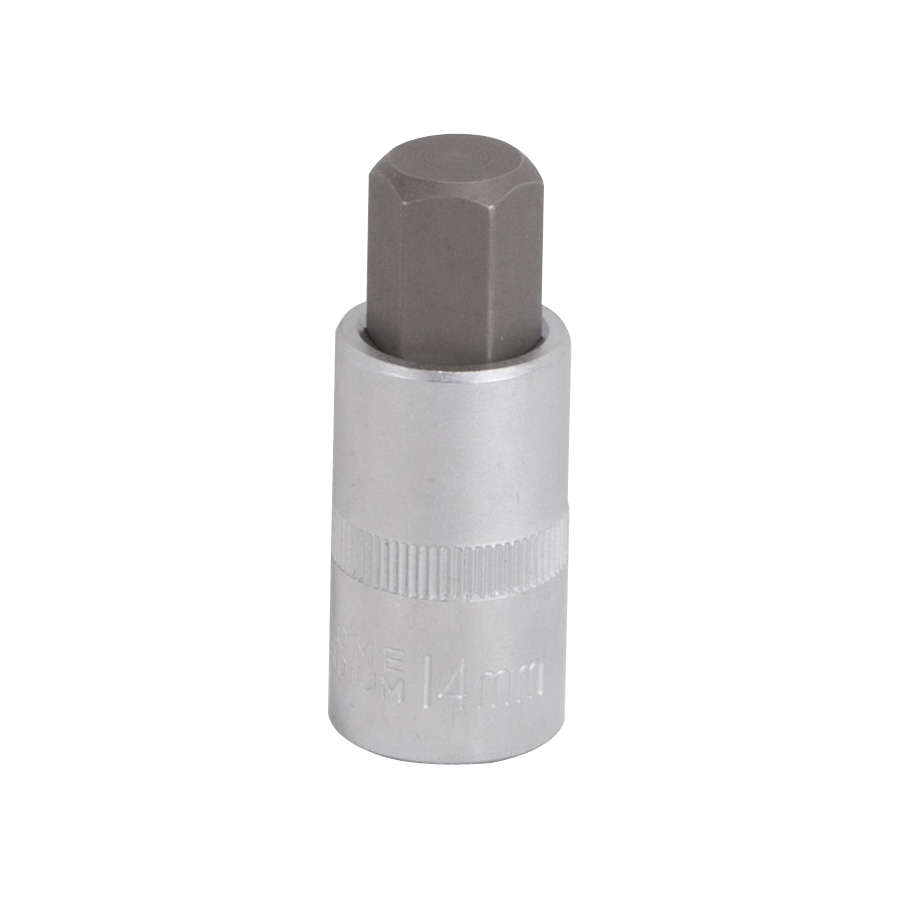 Picture of Vulcan 3506011913 Hex Bit Socket, 14 mm Tip, 1/2 in Drive, Chrome Vanadium