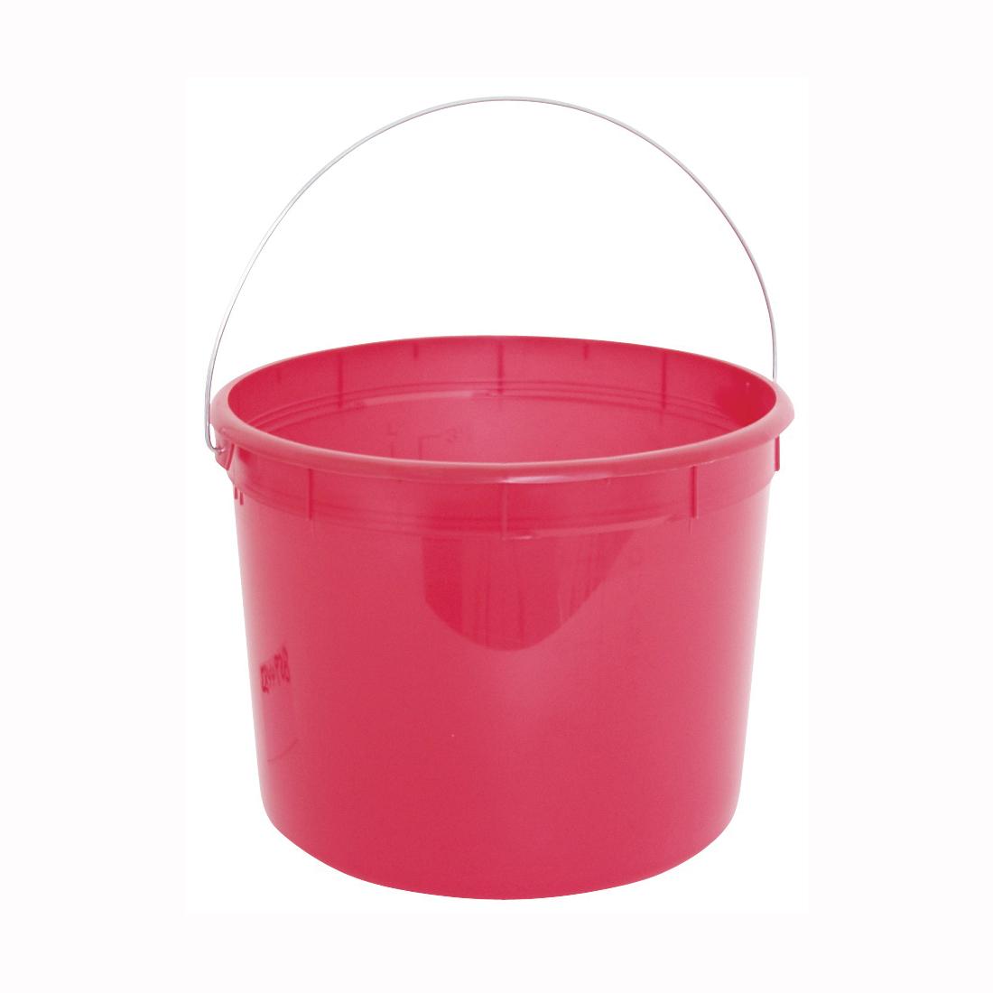 Picture of ENCORE Plastics 05160 Paint Pail, 5 qt Capacity, Plastic, Red