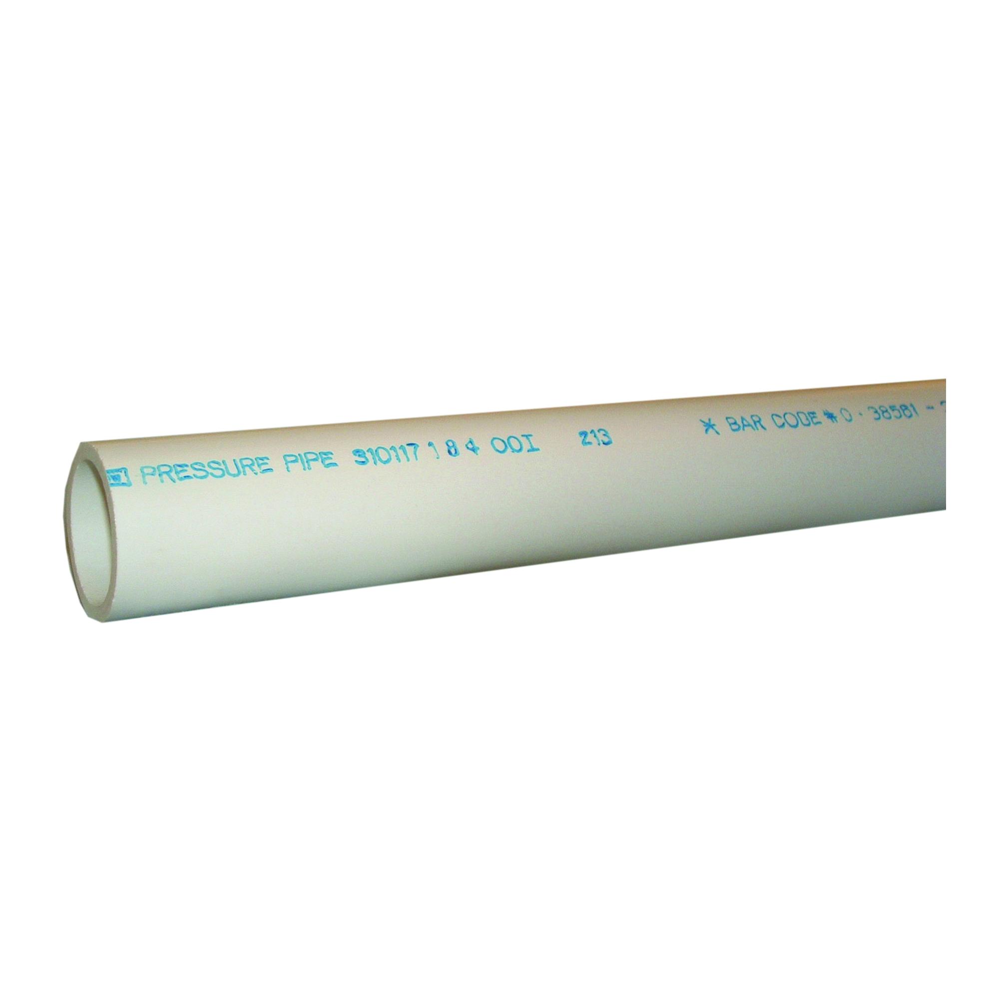 Picture of GENOVA 3101172 Cut Pipe Plain, 2 ft L, Plain, SCH 40 Schedule, White
