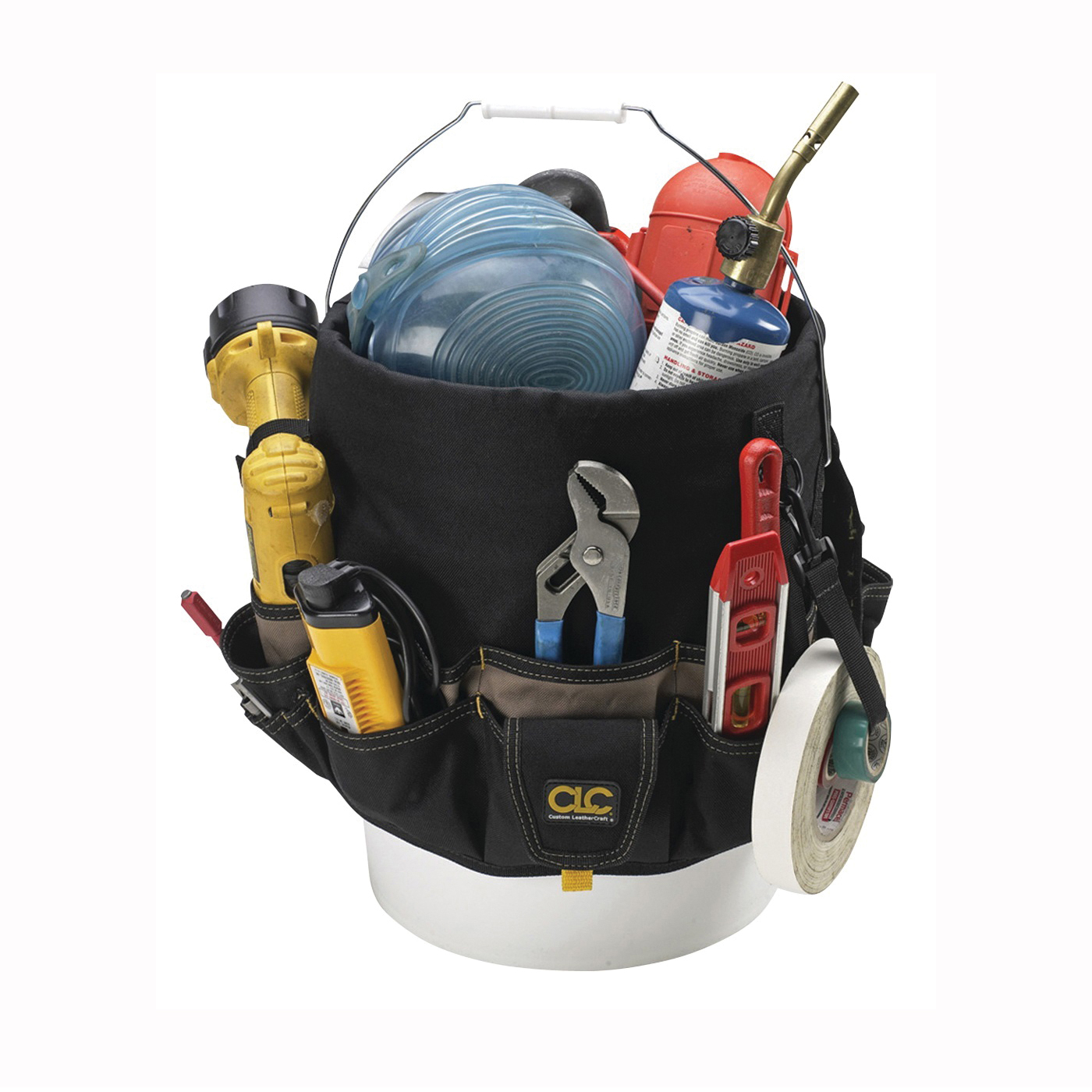 Picture of CLC Tool Works 1119 Bucket Tool Organizer, 48 -Compartment, Polyester, Black/Khaki