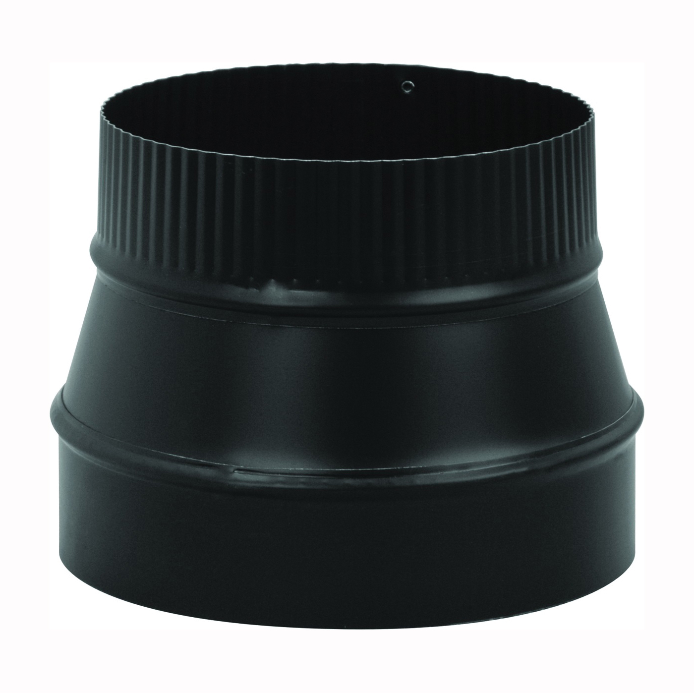 Picture of Imperial BM0077 Stove Pipe Reducer, 7 x 6 in, Crimp, 24 ga Thick Wall, Black, Matte