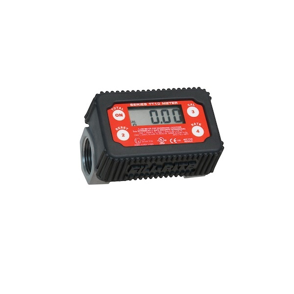 Picture of Fill-Rite TT10AN In-Line Digital Turbine Meter, 1 in Connection, NPT, 2 to 35 gpm, 50 psi Pressure, Digital Display