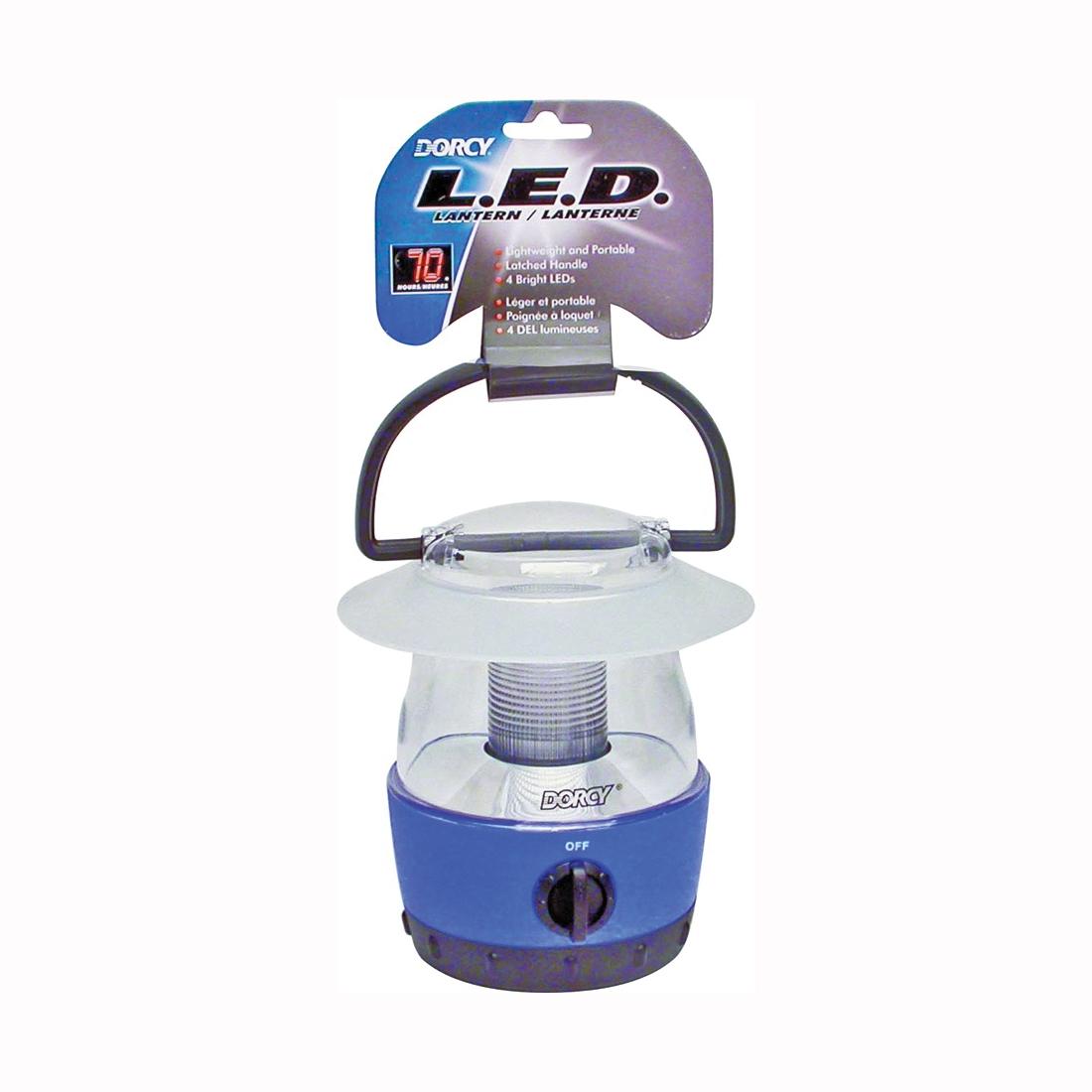 Picture of Dorcy 411017 Handheld Lantern, LED Lamp, 40 Lumens Lumens, Blue/Purple/Red/Yellow