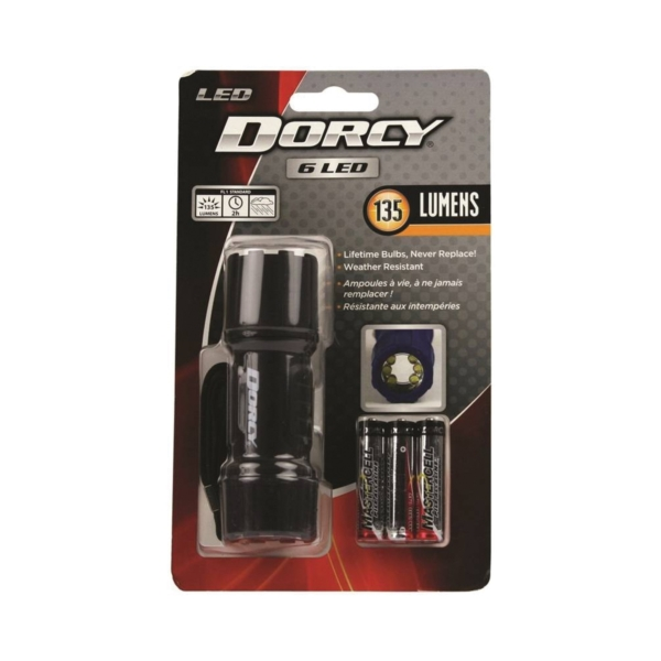 Picture of Dorcy 41-4242 Flashlight, AAA Battery, AAA Battery, LED Lamp, 135 Lumens, 15.24 m Beam Distance, 2 hr Run Time