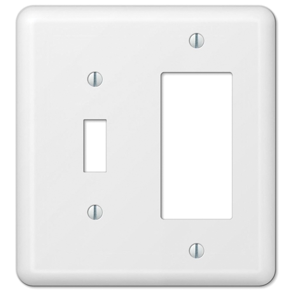 Picture of Amerelle 935TRW Wallplate, 5 in L, 4-5/8 in W, 2-Gang, Steel, White, Wall Mounting