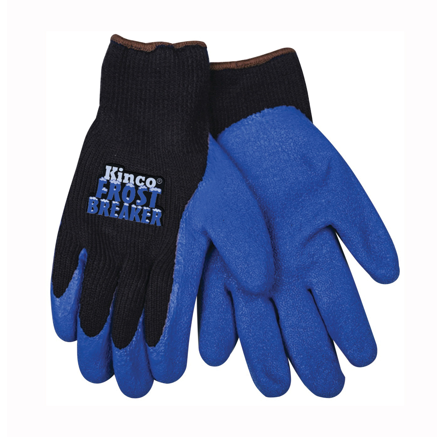 Picture of Frost Breaker 1789-S Protective Gloves, Men's, S, 11 in L, Regular Thumb, Knit Wrist Cuff, Acrylic, Black/Blue