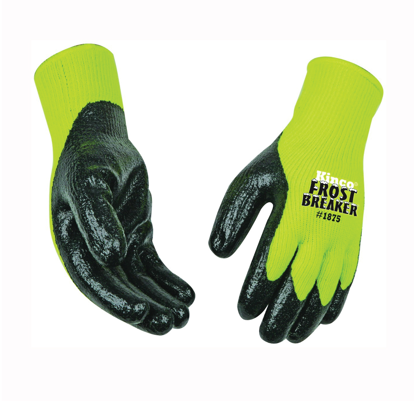 Picture of Frost Breaker 1875-L High-Visibility High-Dexterity Protective Gloves, Men's, L, Keystone Thumb, Knit Wrist Cuff