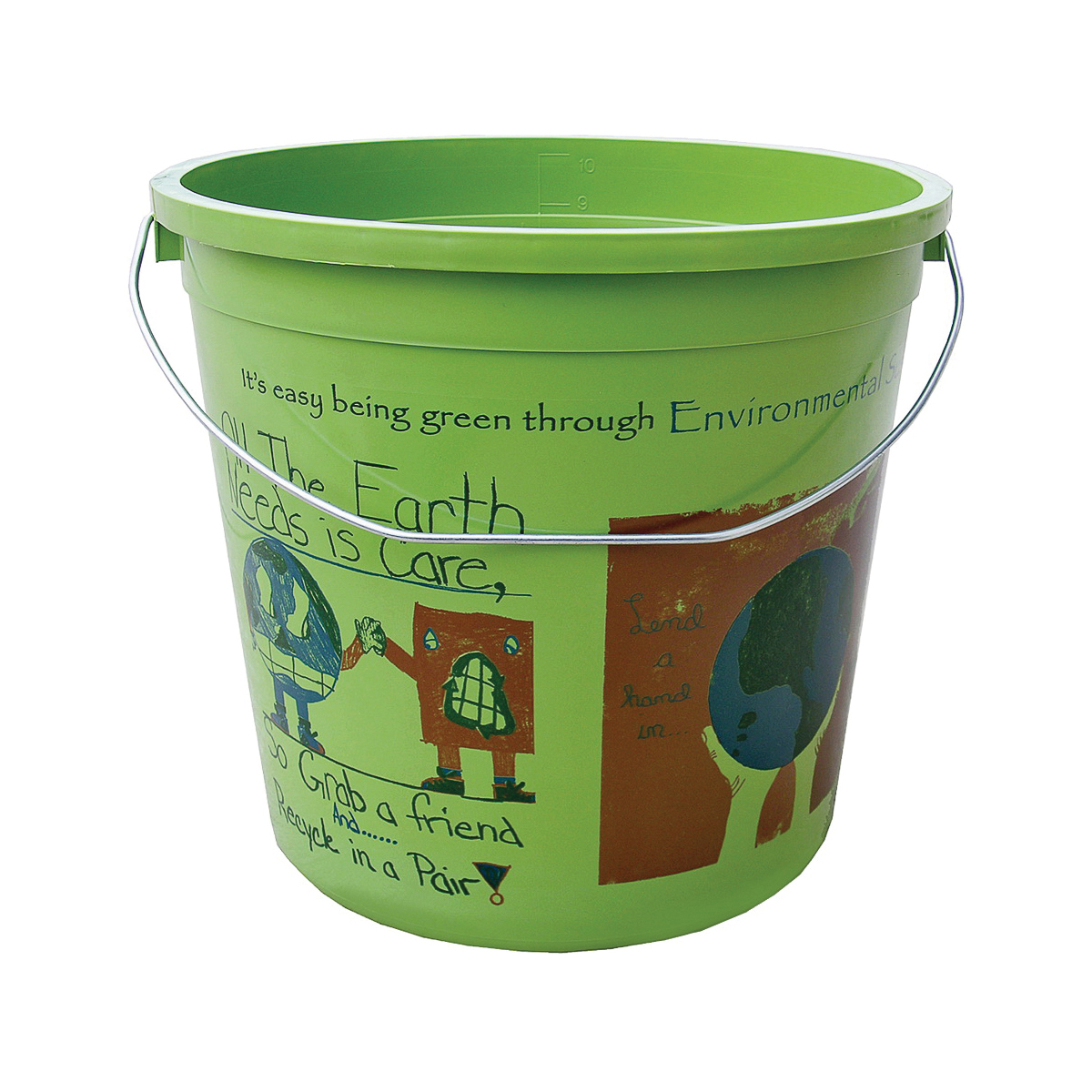 Picture of ENCORE Plastics EcoSmart 300773 Paint Pail, 10 qt Capacity, HDPE, Green