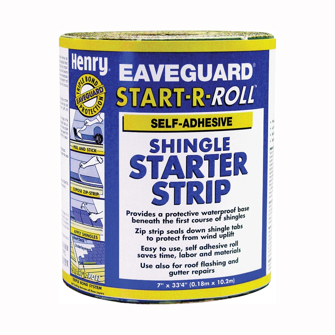 Picture of Henry Eaveguard Start-R-Roll AA936 Shingle Starter Strip, Solid