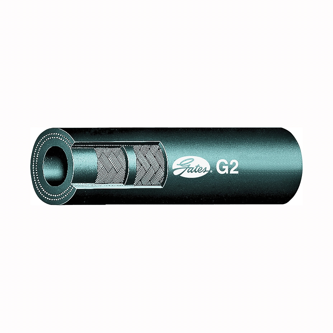 Picture of GATES 86625 Hose, 50 ft L, 2400 psi Pressure, Synthetic Rubber, Black
