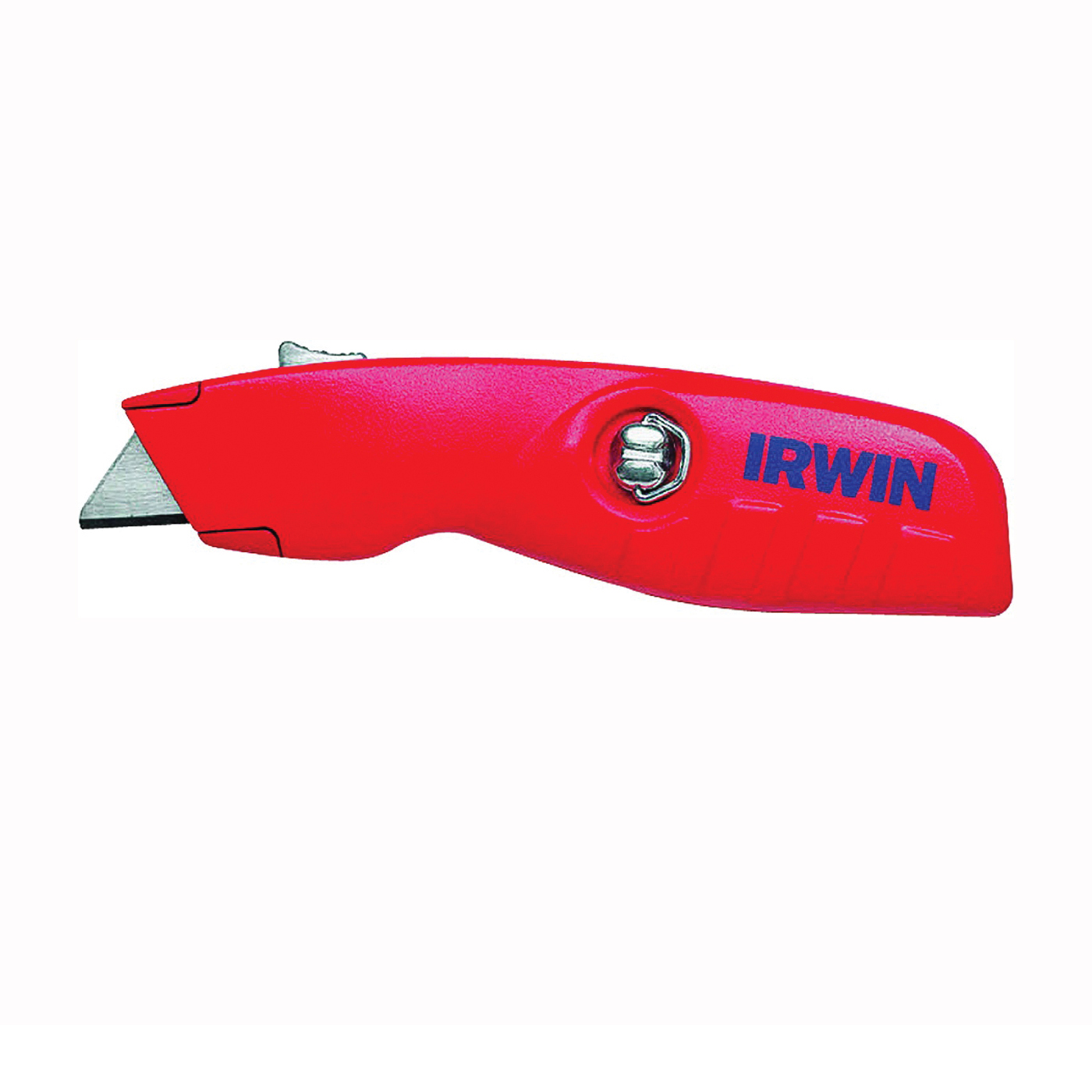Picture of IRWIN 2088600 Utility Knife, 1-1/2 in W Blade, Bi-Metal Blade, Contour-Grip Handle, Red Handle
