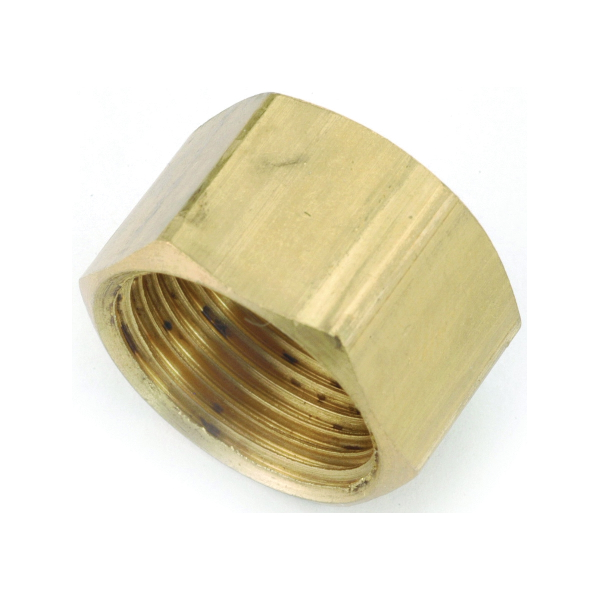 Picture of Anderson Metals 730081-04 Tube Cap, 1/4 in, Compression, Brass