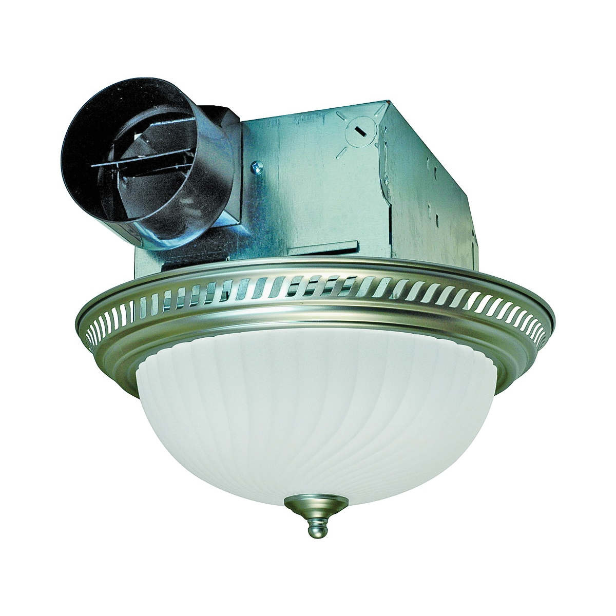 Picture of Air King DRLC702 Exhaust Fan, 1.6 A, 120 V, 70 cfm Air, 4 Sones, Fluorescent Lamp, 4 in Duct