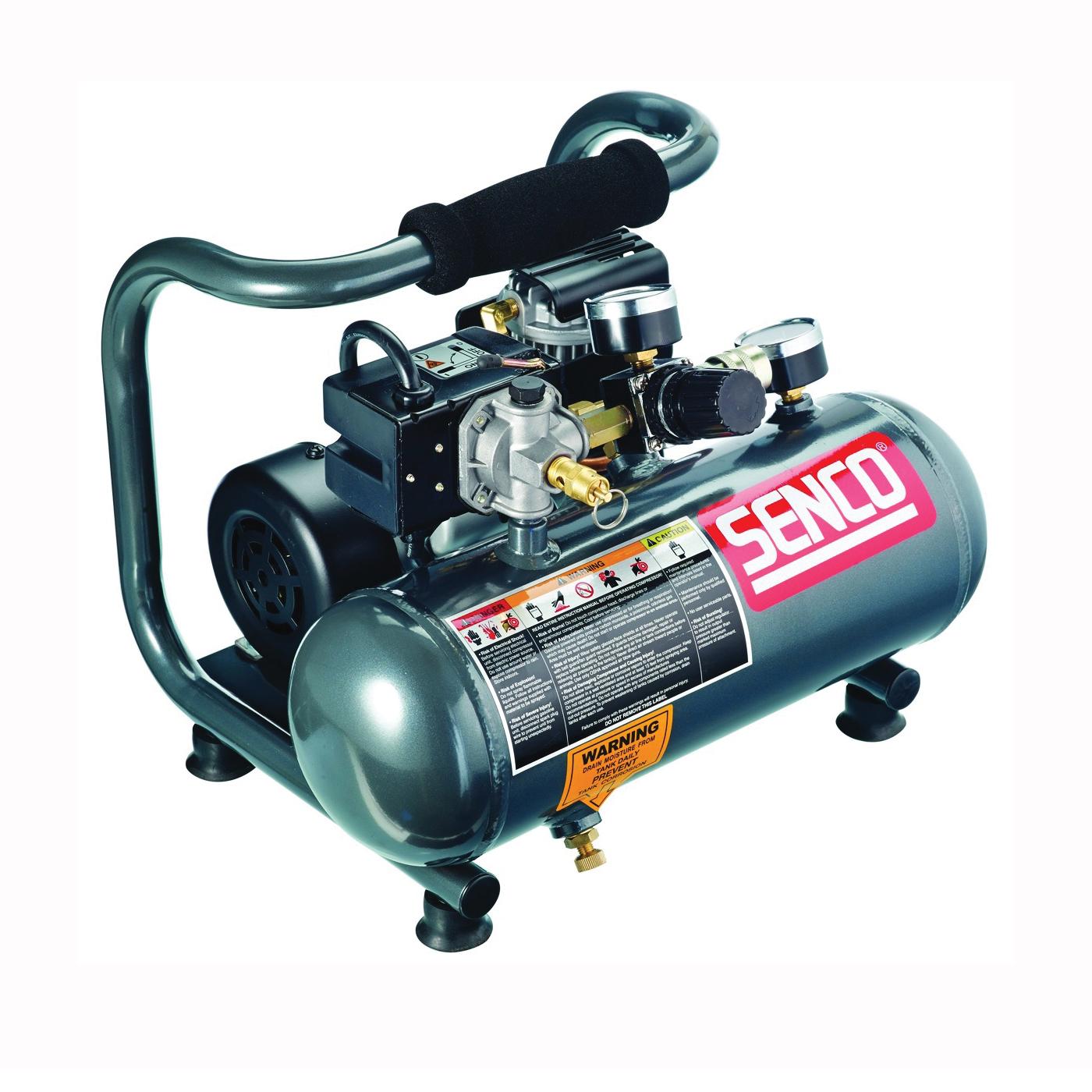 Picture of SENCO PC1010 Trim Air Compressor, 1 gal Tank, 0.5 hp, 115 V, 125 psi Pressure, 0.7 scfm Air