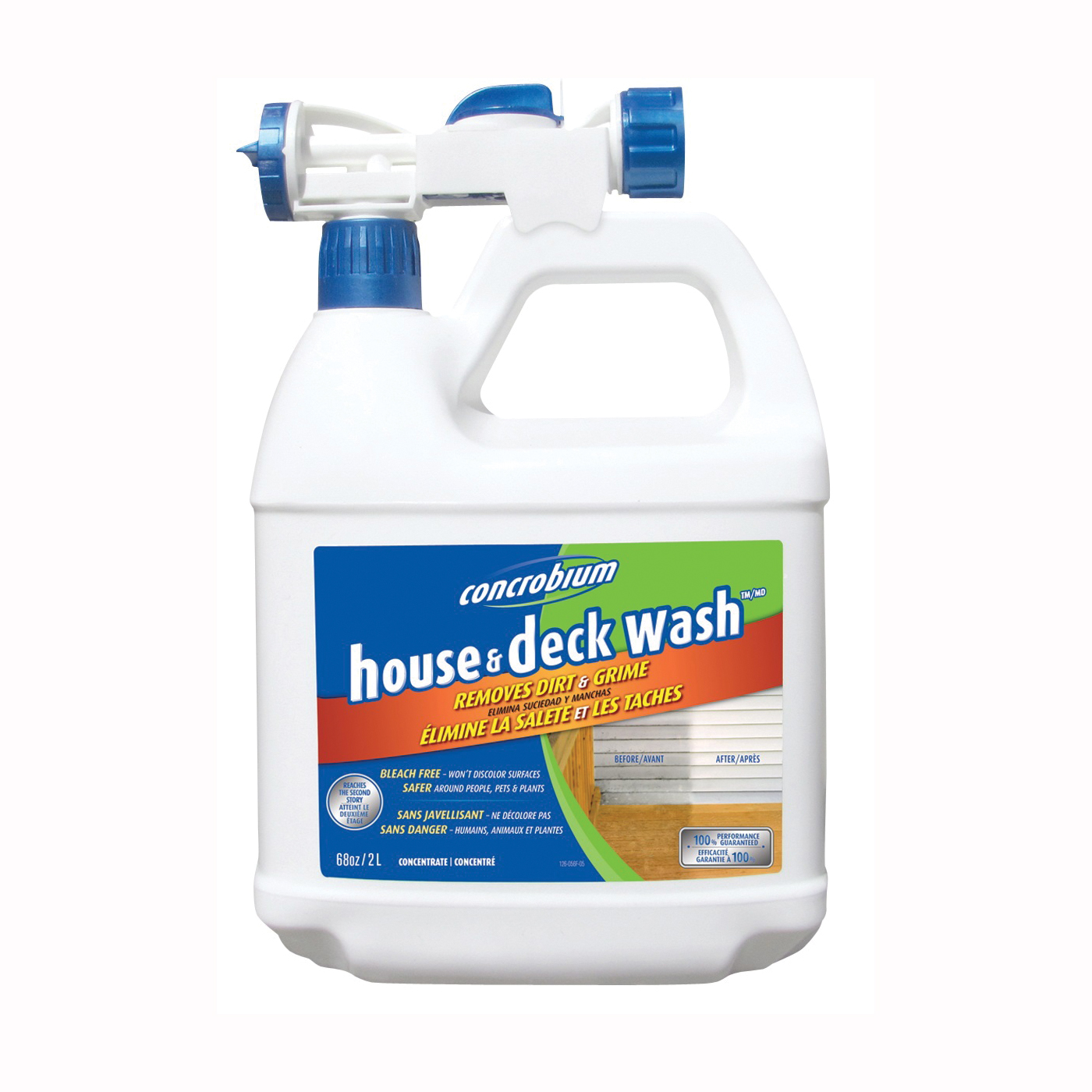 Picture of Concrobium 126-056 House and Deck Wash, Liquid, Very Little, Transparent, 68 oz, Bottle