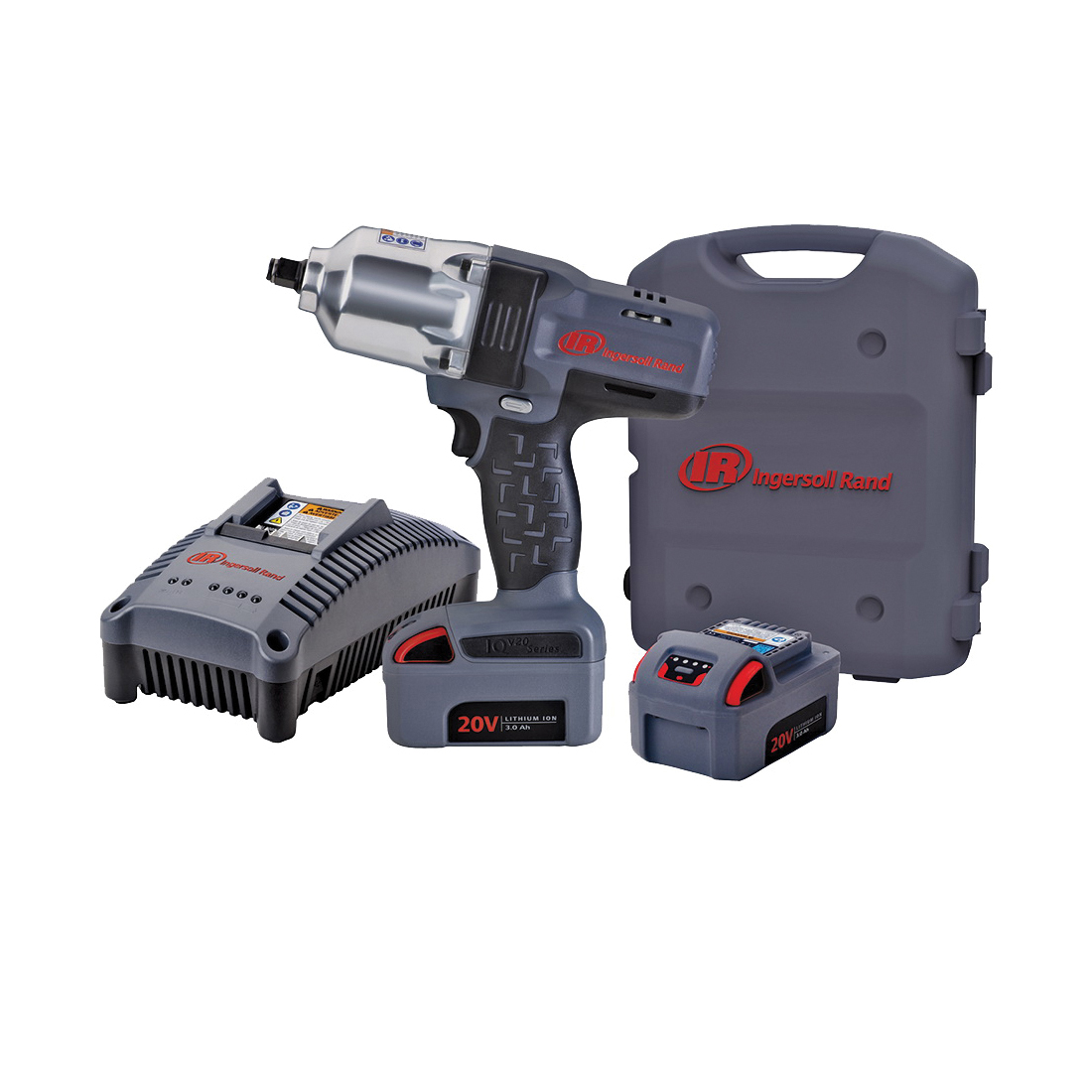 Picture of Ingersoll Rand W7150-K2 Impact Wrench Kit, Kit, 20 V Battery, 3 Ah, 1/2 in Drive, Square Drive, 780 ft-lb