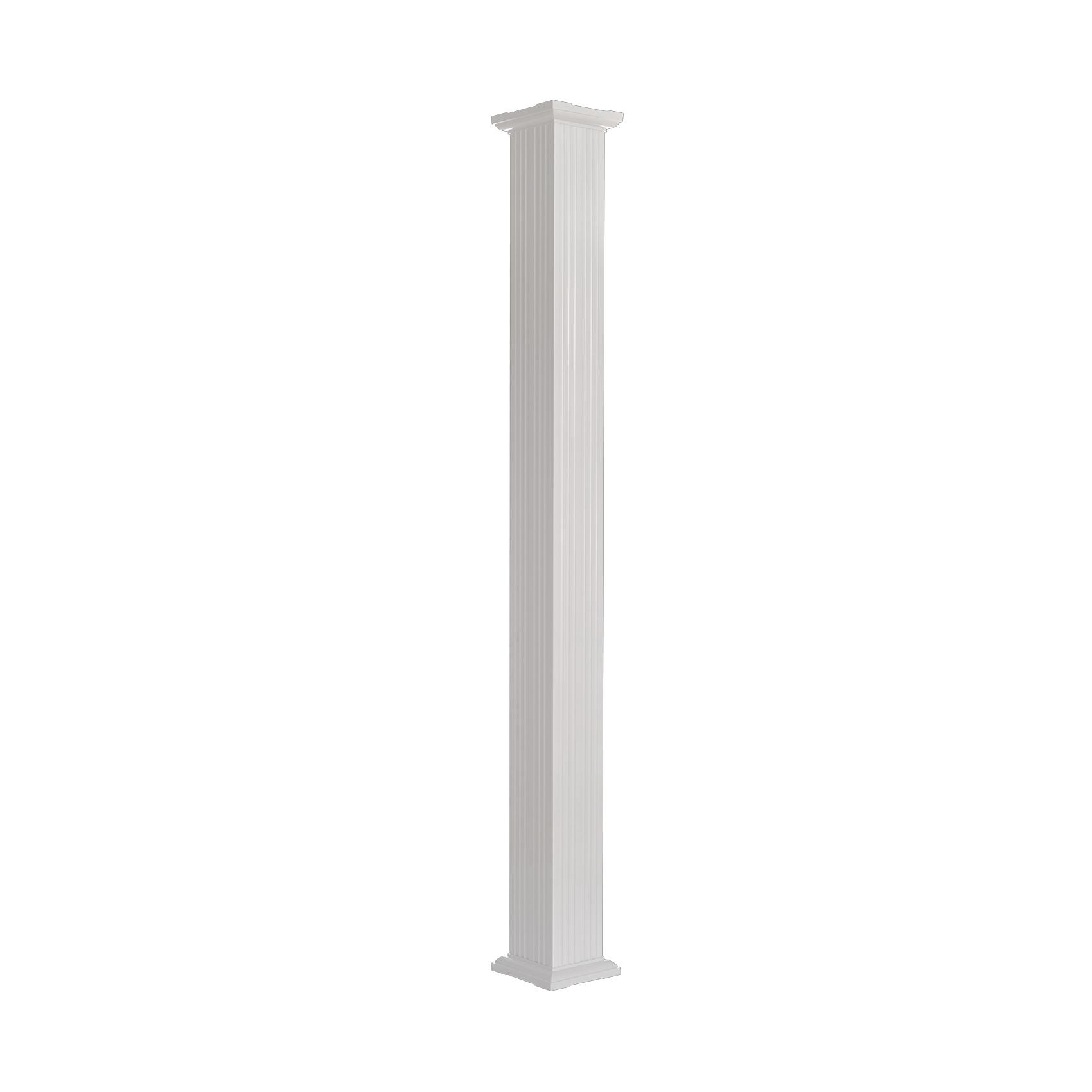 Picture of AFCO 800AC610 Square Column, 10 ft H, Square, Aluminum, White