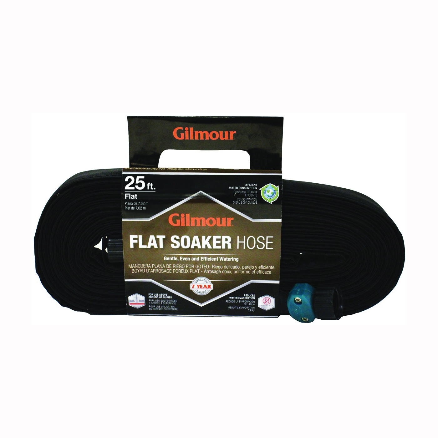 Picture of Gilmour 27025G Weeper/Soaker Hose with Cloth Cover, 25 ft L