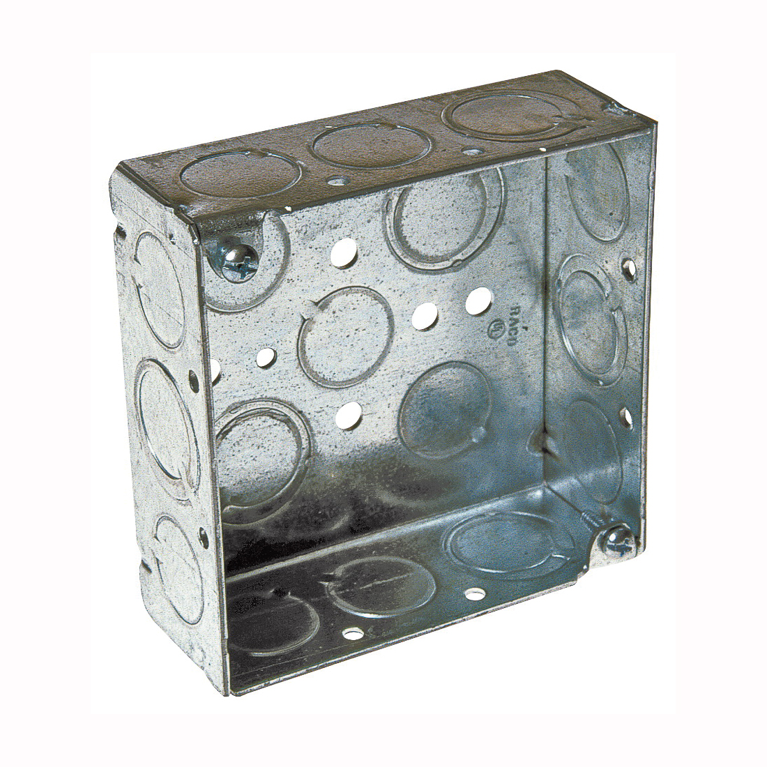 Picture of RACO 8189 Ceiling Outlet Box, 2-Gang, 16-Knockout, Steel, Gray
