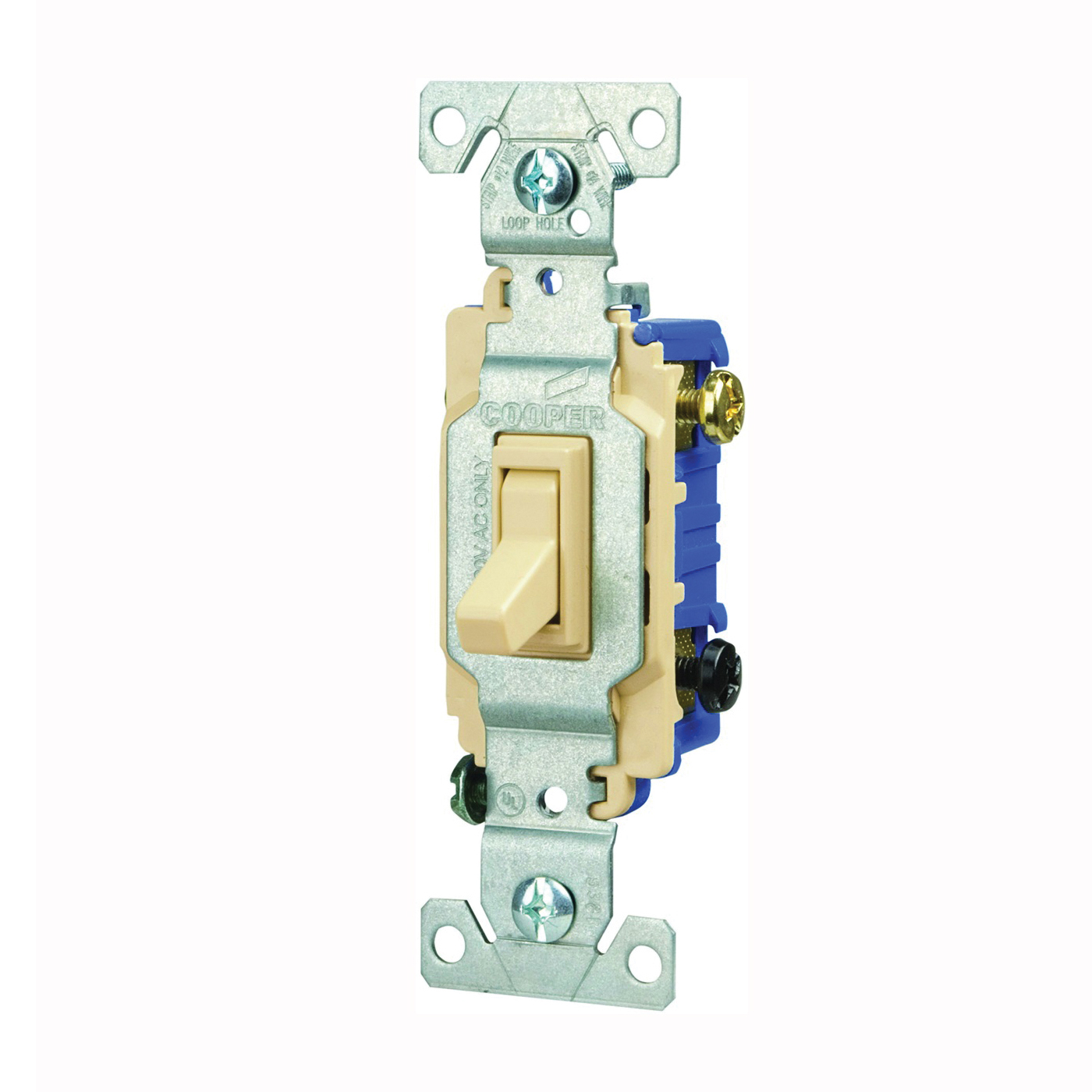 Picture of Eaton Wiring Devices C1303-7LTV-L Toggle Switch, 15 A, 120 V, Polycarbonate Housing Material, Ivory