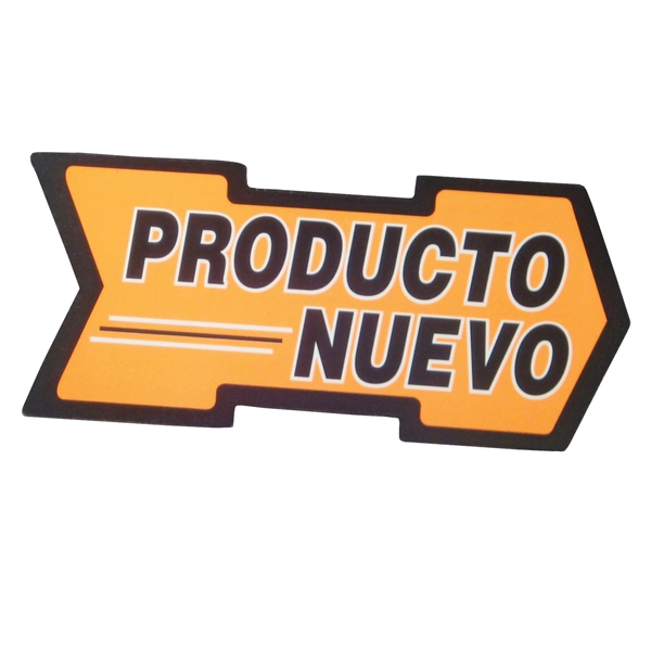 Picture of Centurion CRA200S Shelf Talker Sign, Producto Nuevo Arrow, 5-1/2 in W x 2-1/2 in H Dimensions