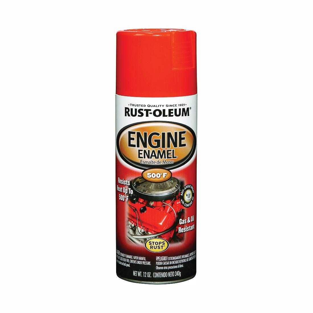 Picture of RUST-OLEUM AUTOMOTIVE 248941 Engine Enamel Spray Paint, Chevy Orange, 12 oz, Aerosol Can