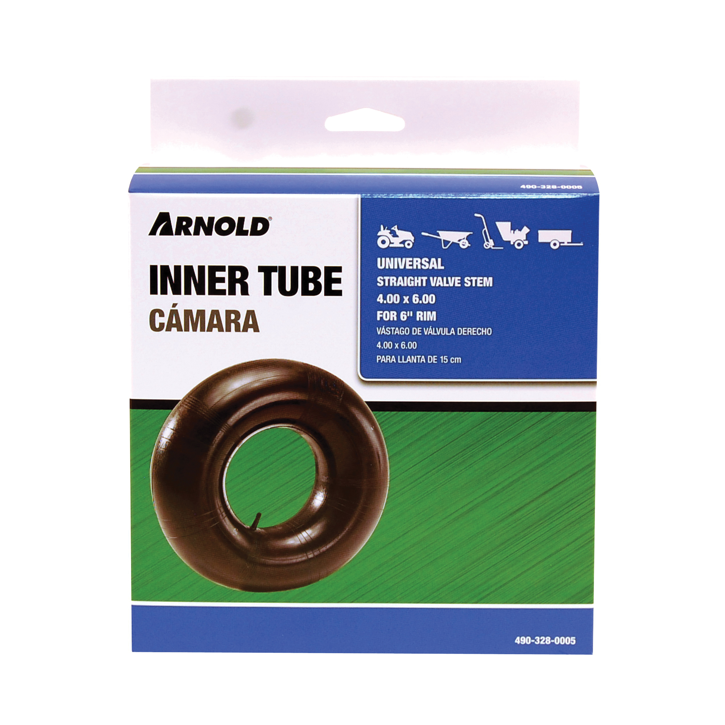 Picture of ARNOLD 490-328-0005 Wheelbarrow Inner Tube, 14 in, For: 6 in Rim, 4 x 6 in Tire
