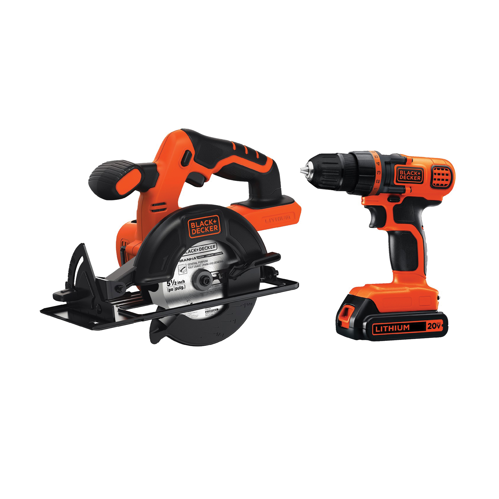 Picture of Black+Decker BD2KITCDDCS Combo Kit, Battery Included: Yes