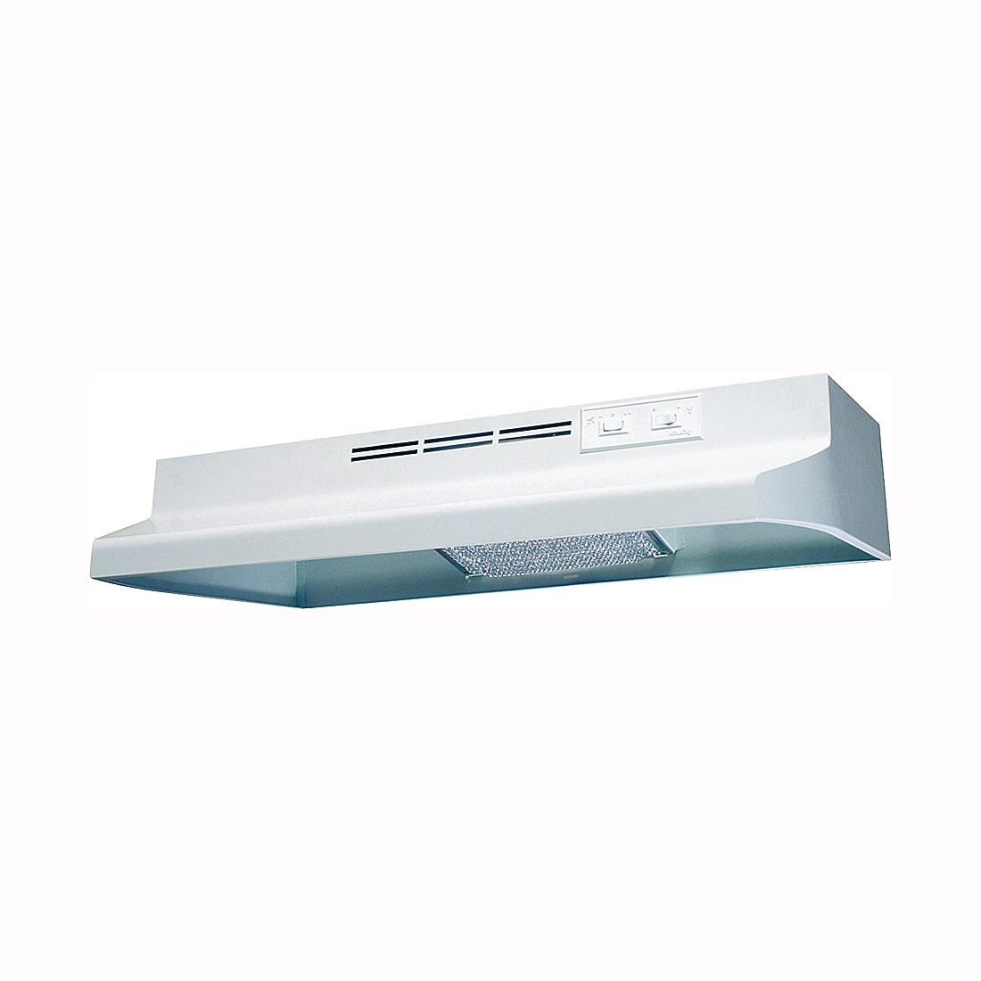 Picture of Air King Advantage AD AD1303 Range Hood, 180 cfm, 2 Fan, 30 in W, 12 in D, 6 in H, Cold Rolled Steel, White