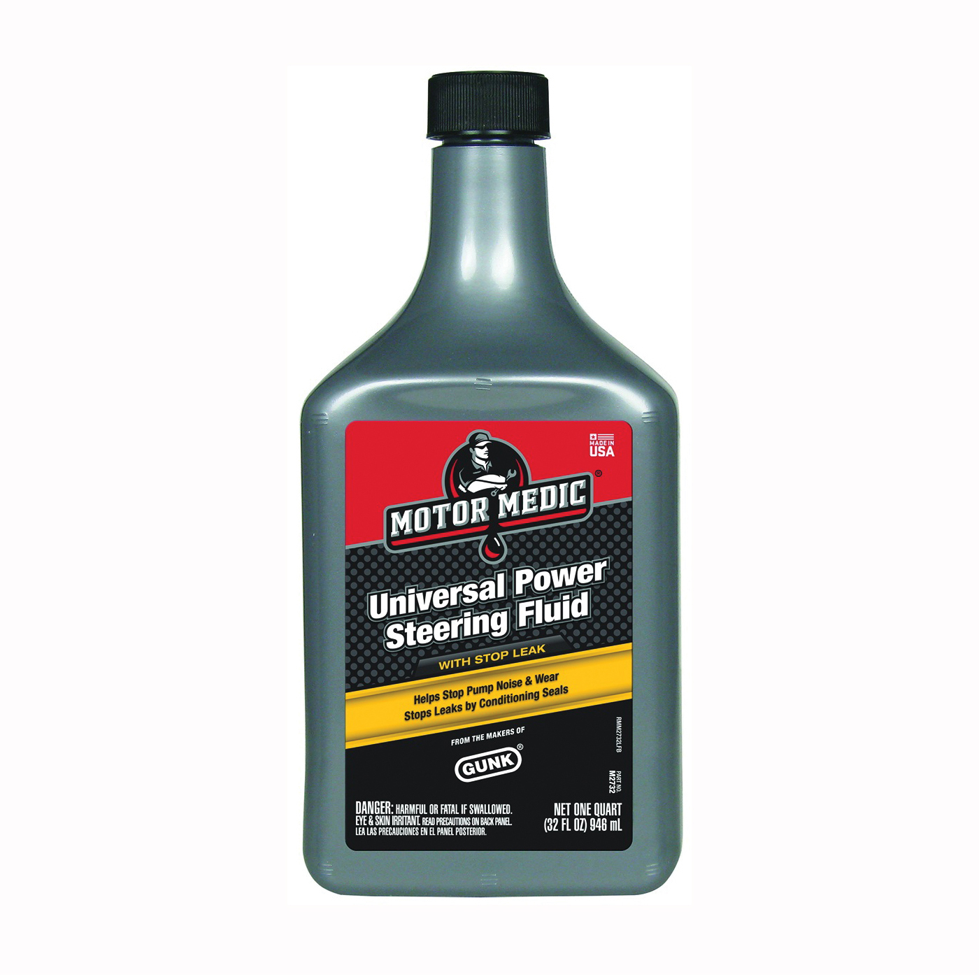 Picture of RSC M2732 Power Steering Fluid with Stop Leak Yellow, 32 oz Package, Bottle
