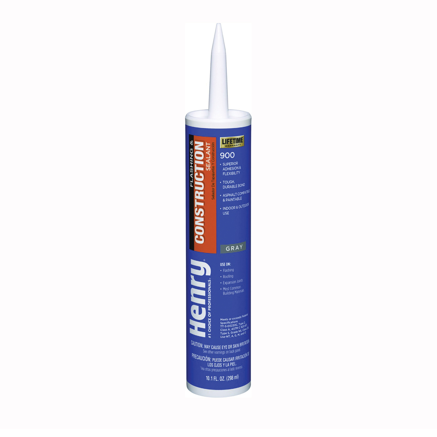 Picture of Henry 900 Series HE900104 Flashing and Construction Sealant, Gray, Liquid, 10.1 oz Package, Cartridge