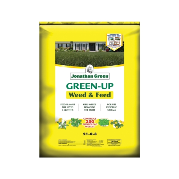 Picture of Jonathan Green Green-Up 12344 Weed and Feed Lawn Fertilizer, Granular, Ammonia, Sulphur, 15 lb Package, Bag