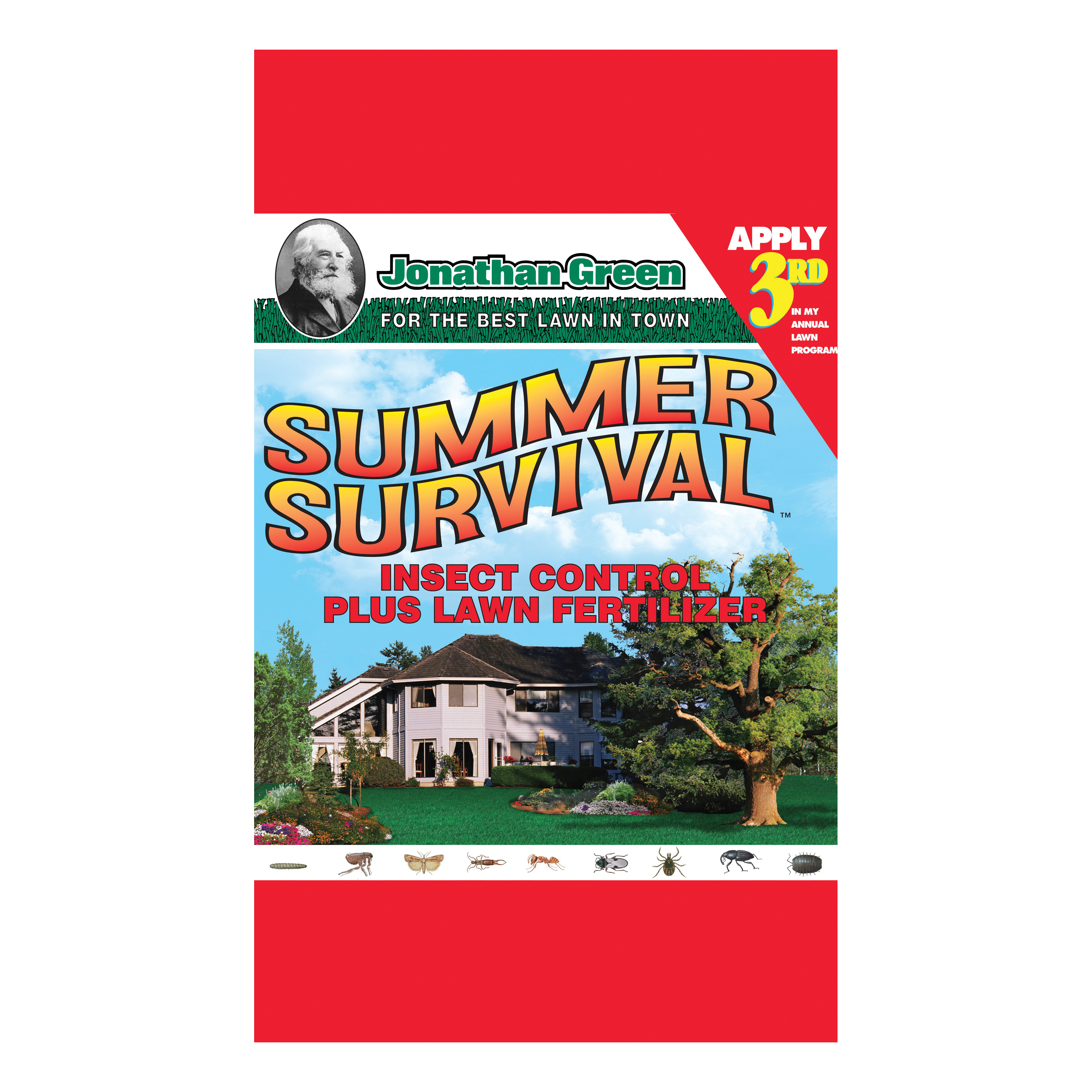 Picture of Jonathan Green Summer Survival 12011 Insect Control and Lawn Fertilizer, Granular, 16.65 lb Package