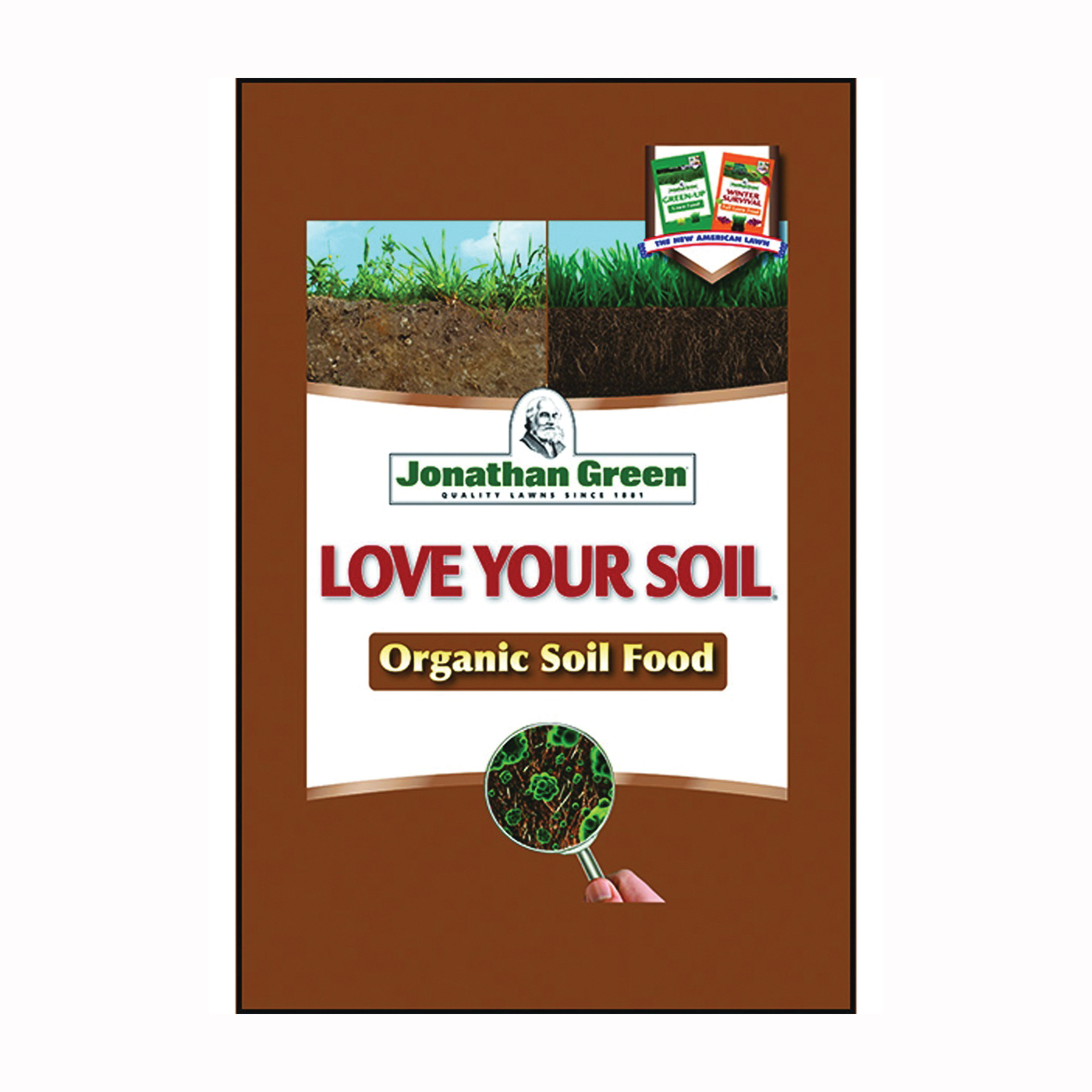 Picture of Jonathan Green Love Your Soil 12192 Organic Lawn Fertilizer, Granular, 3.6 lb Package, Bag