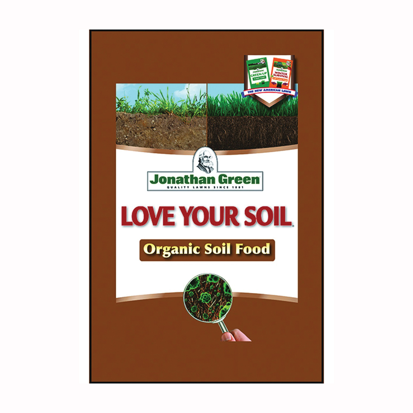 Picture of Jonathan Green Love Your Soil 12190 Organic Lawn Fertilizer, Granular, 18 lb Package, Bag
