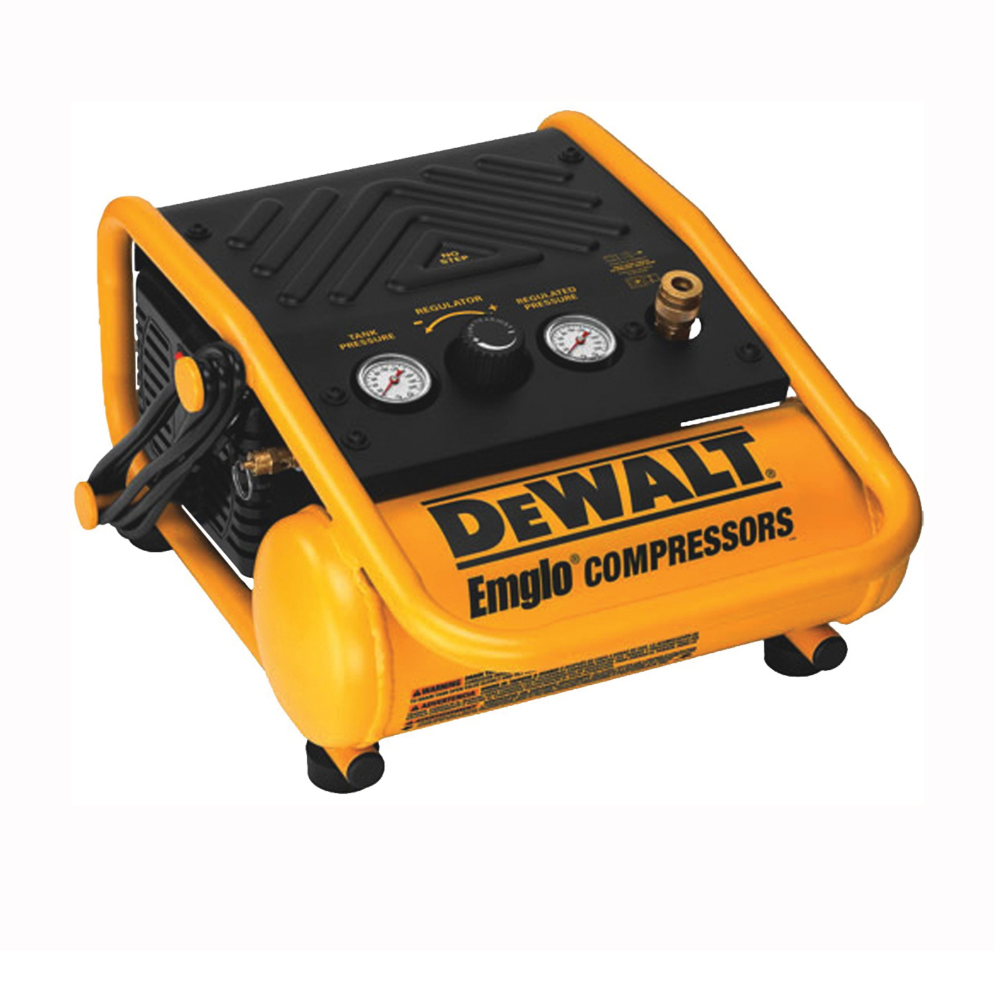 Picture of DeWALT D55140 Portable Trim Compressor, 1 gal Tank, 0.3 hp, 120 V, 135 psi Pressure, 1 cfm Air