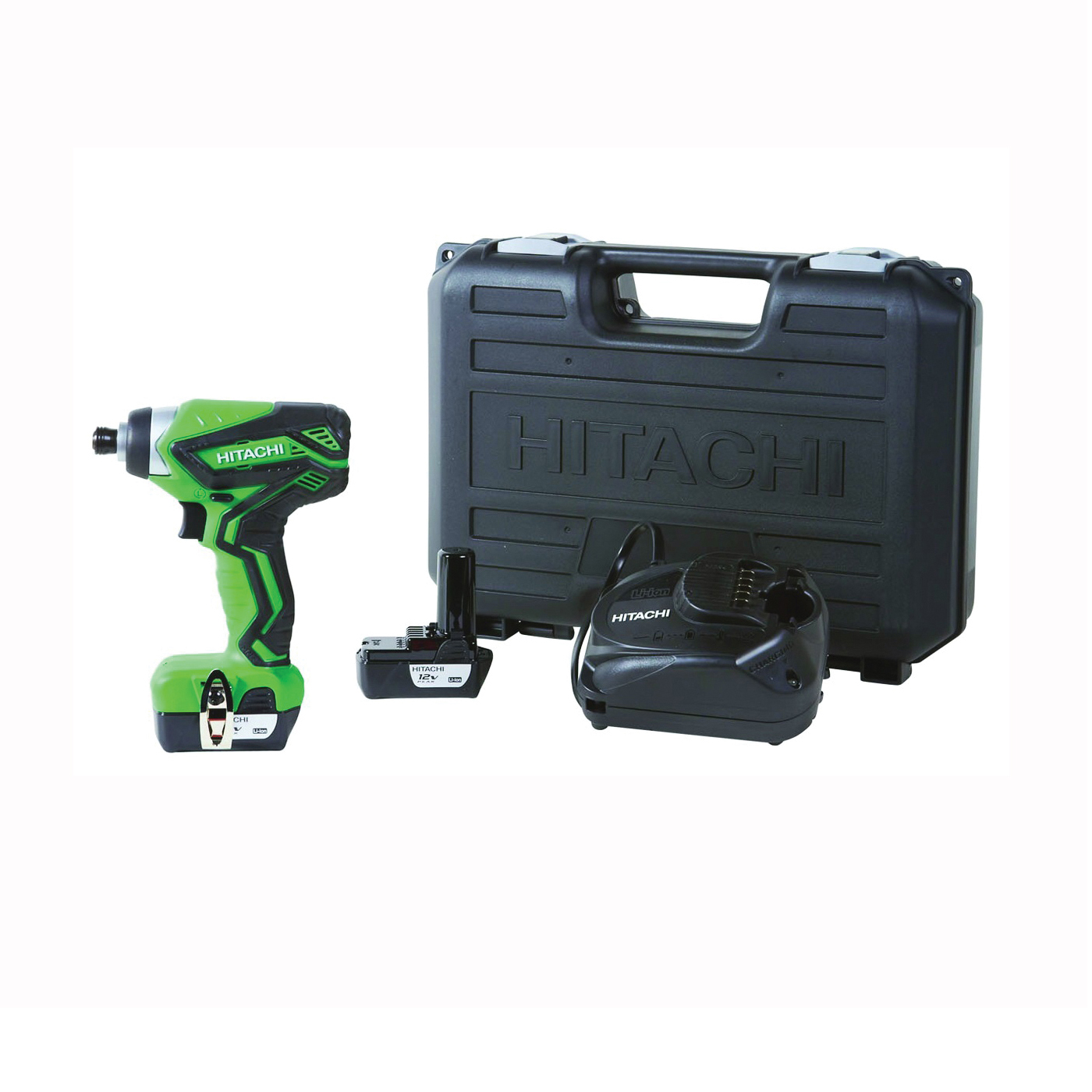 Picture of Metabo HPT WH10DFL2M Impact Driver, 12 V Battery, 1/4 in Drive, Black/Green