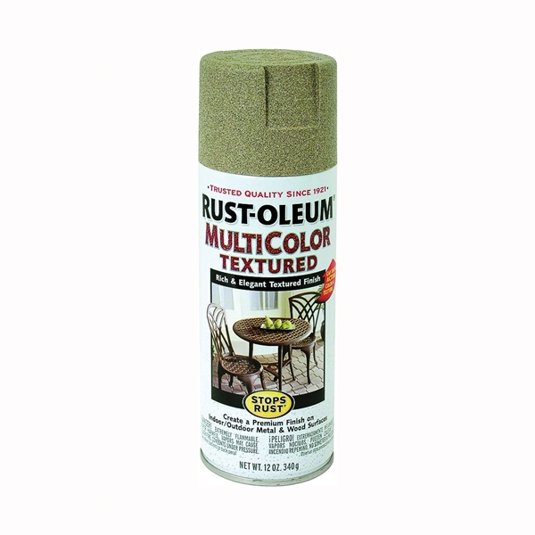 Picture of RUST-OLEUM STOPS RUST 223524 Textured Spray Desert Bisque, Solvent-Like, Desert Bisque, 12 oz, Aerosol Can