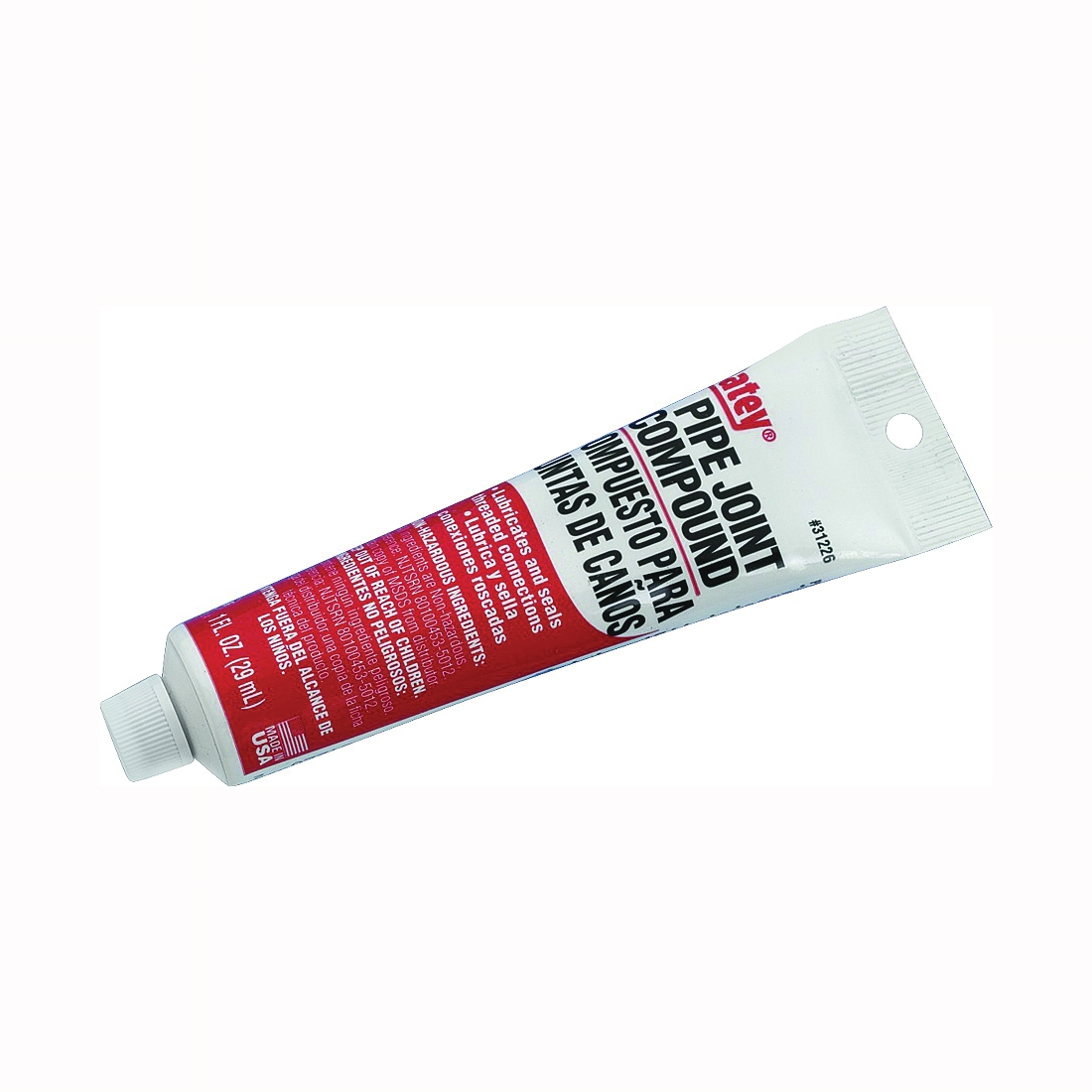 Picture of Oatey 31226 Pipe Joint Compound, 1 oz, Tube, Liquid, Paste, Gray