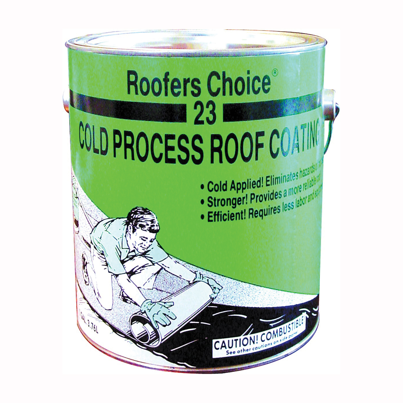 Picture of Henry Roofers Choice RC023042 Roof Coating, Black, 3.76 L, Liquid