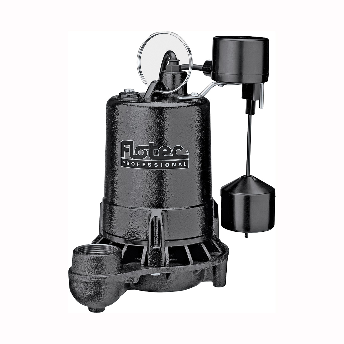 Picture of Flotec Professional E50VLT Sump Pump, 1-Phase, 6 A, 115 V, 0.5 hp, 1-1/2 in Outlet, 22 ft Max Head, 1020 gph