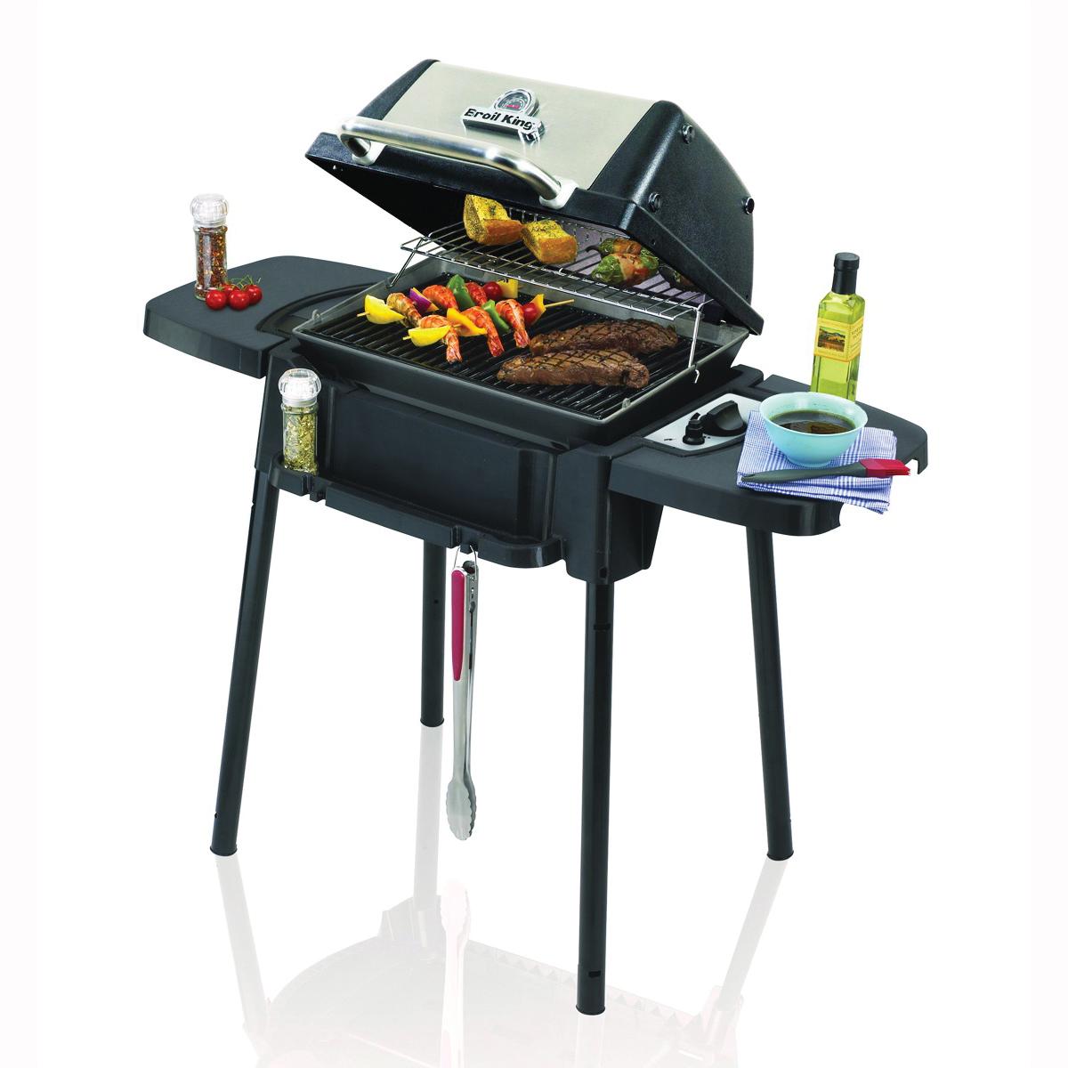 Picture of Broil King Porta-Chef 950654 Gas Grill, 14000 Btu/hr BTU, Liquid Propane, 1 -Burner, Stainless Steel Body, Black