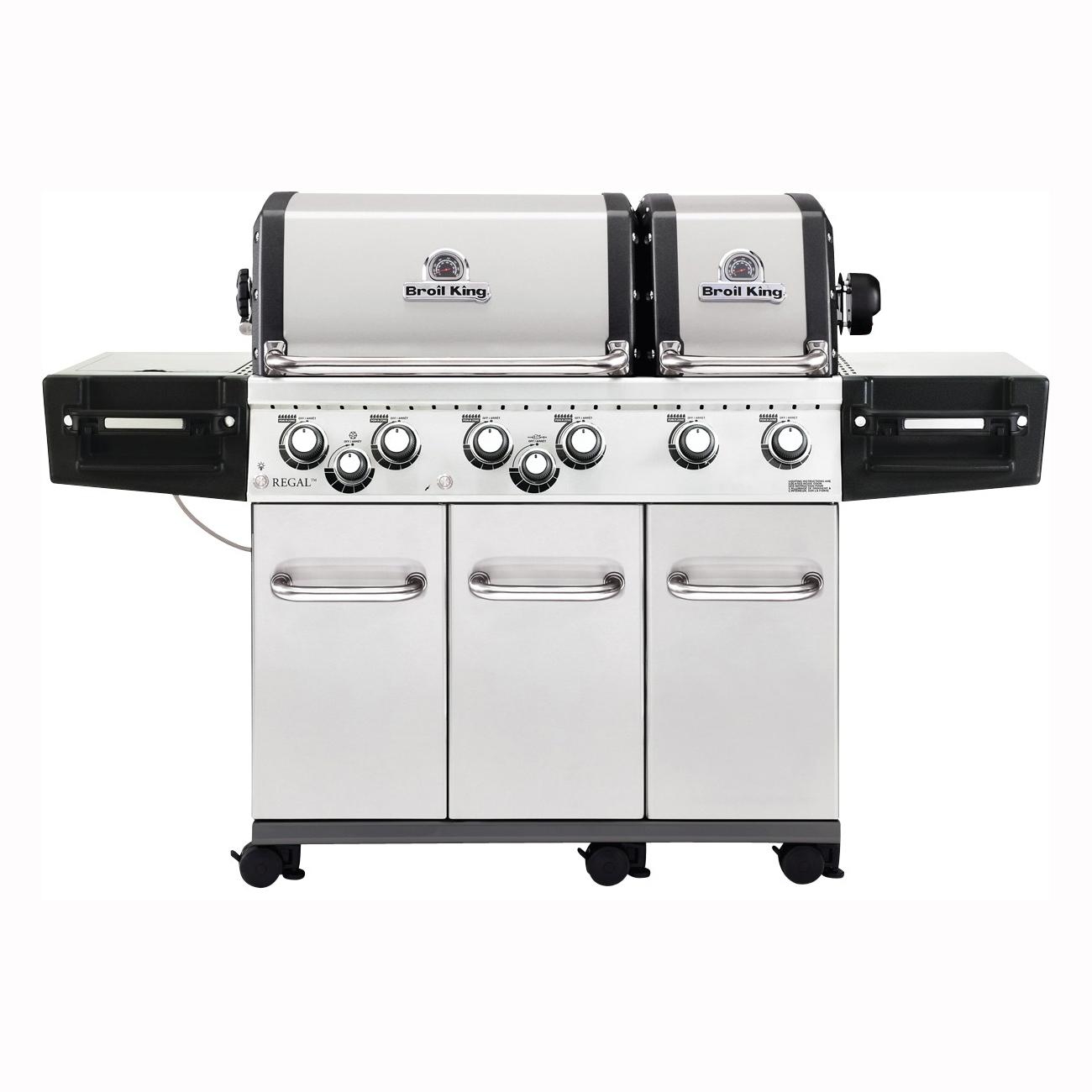 Picture of Broil King Regal 957344 Gas Grill, 60000 Btu/hr BTU, Liquid Propane, 6 -Burner, 250 sq-in Primary Cooking Surface