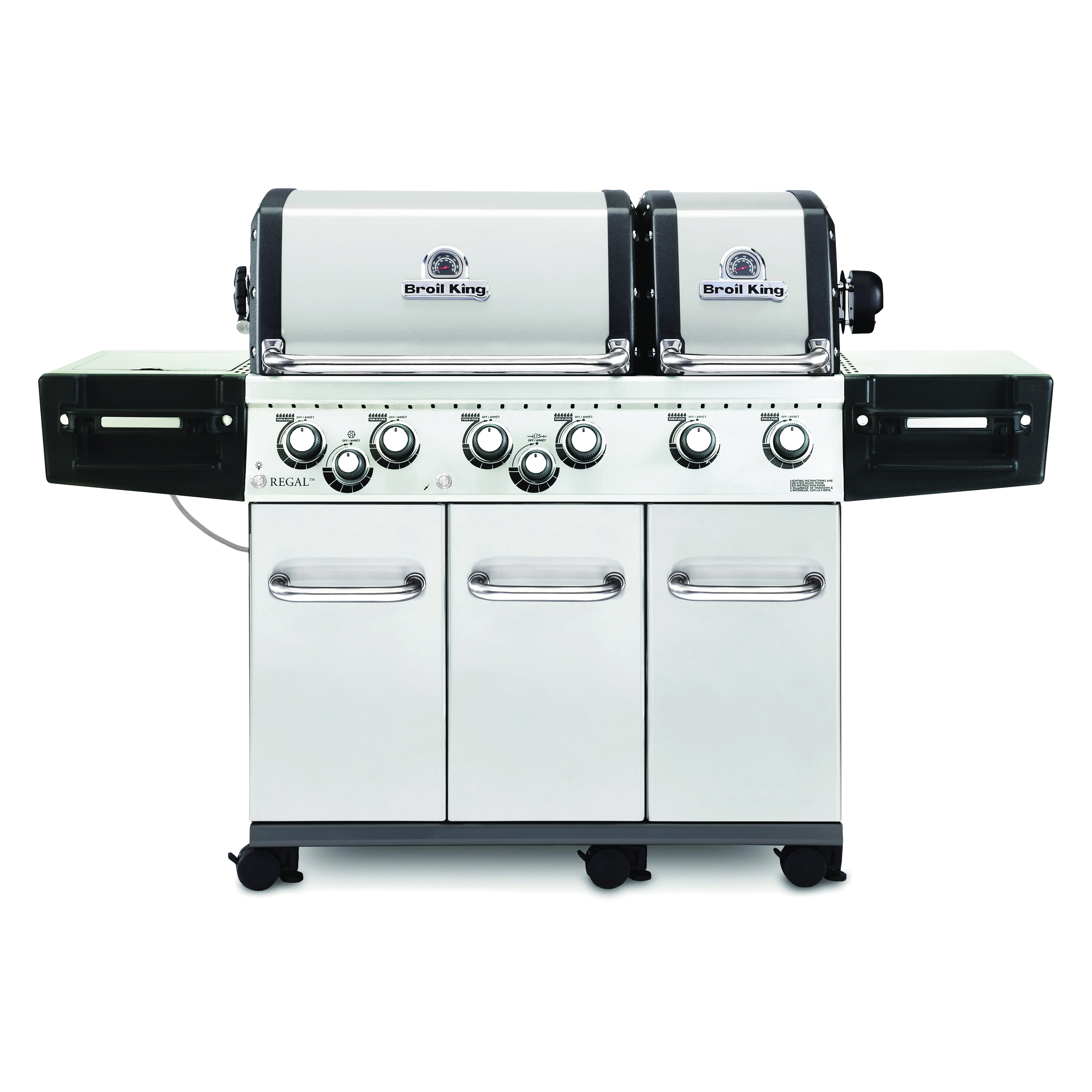 Picture of Broil King Regal 957347 Gas Grill, 60000 Btu/hr BTU, Natural Gas, 6 -Burner, 250 sq-in Primary Cooking Surface
